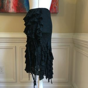 MOSCHINO JEANS Ruffle Lace Detailed Skirt Sz.4